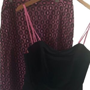 NWT Milly of New York - skirt and cami; 8
